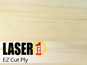 "EZCut Poplar Plywood -  1/8"" (3mm) 12""x24"" Single Sheets"